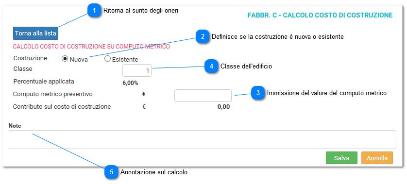 Calcolo C C C Residenziale Su Computo Metrico